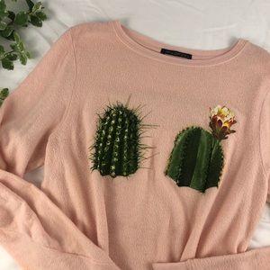 Wildfox Pink Hands Off My Succulents Sweatshirt